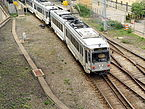 Pittsburgh Light Rail Siemens SD-400 leaving First Avenue Station.jpg