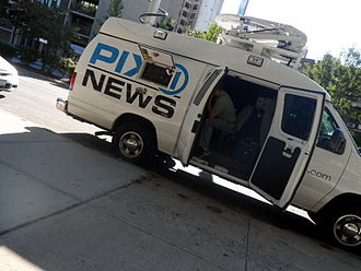 WPIX - A WPIX news van in Brooklyn