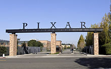 An image of Pixar Animation Studio's headqarters.