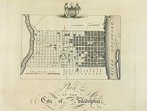 Birch's Views of Philadelphia - Image: Plan of the City of Philadelphia Birch's Views Plate 3