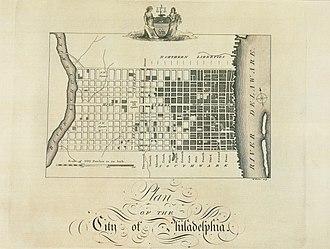 Birch's Views of Philadelphia - Image: Plan of the City of Philadelphia Birch's Views Plate 3