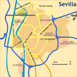 Puente de Isabel II - Map of Seville