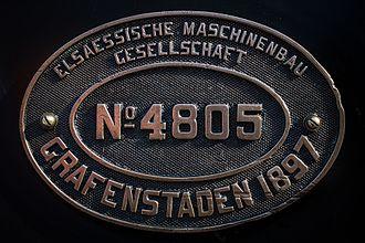 Elsässische Maschinenbau-Gesellschaft Grafenstaden - Elsaessische Maschinenbau Gesellschaft NR 4805.