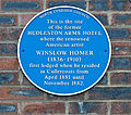 Plaque on the site of the Hudleston Arms Hotel (7289812676).jpg