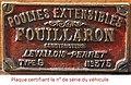 Plaque sur véhicule Fouillaron 1903.jpg