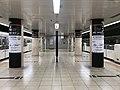 Platform of Nakasu-Kawabata Station (Airport Line).jpg