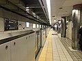 Platform of Namba Station (Sennichimae Line) 3.jpg