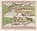 Plattegronden van Gibraltar met gezichten op de vesting en baai van Gibraltar Neuester und exacter plan und prospect von der stadt, vestung, bay und fortification von Gibraltar (..) (titel op object), RP-P-2018-1131.jpg