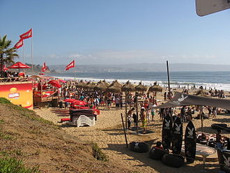 Balneario - Reñaca beach is a popular balneario in Valparaíso Province, that attracts tourists from across Chile, South America, and the world.
