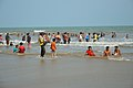 Playful People with Sea Waves - New Digha Beach - East Midnapore 2015-05-01 8685.JPG