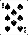 Playing card spade 8.svg