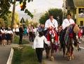 Początek orszaku ślubnego. The front of a wedding procession.tif