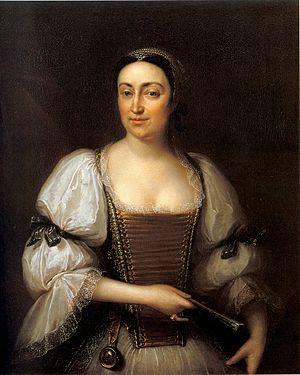 Ádám Mányoki - Portrait of Judit Podmanitzky (1724)
