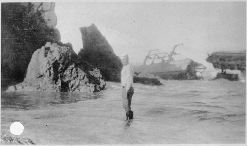 File:Point Honda shipwreck site September8, 1923, Santa Barbara Co., California. Patrol on watch. - NARA - 295444.tiff