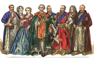Magnates of Poland and Lithuania - A painting of Polish magnates (1697-1795) by Jan Matejko (see image description for the names)