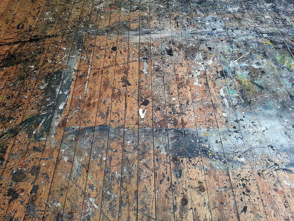 Pollock-Krasner House studio floor