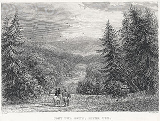 Pont Pwl Gwyn, River Usk: from the mail road between Trecastle & Brecon
