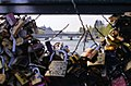 Pont des Arts, Paris - Pont du Carrousel through a Hole in Love Padlocks.jpg