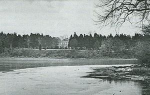 Popes Creek (Virginia) - The waters of Pope's Creek from across the cove showing the 20th century Memorial House