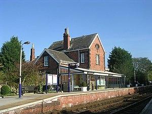 Poppleton railway station - Image: Poppleton Station Station Road geograph.org.uk 2659751