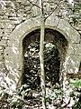 Portail, à double paroi, donnant accès aux salles intérieures du château. Vue intérieure.jpg