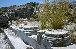 Ancient Thera - Ruins of a peristyle in Ancient Thera