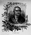 Portrait of Sir Joseph Banks (1743-1820) - botanist on Captain Cook's voyage to Australia - photographed from illustration in book(GN03896).jpg