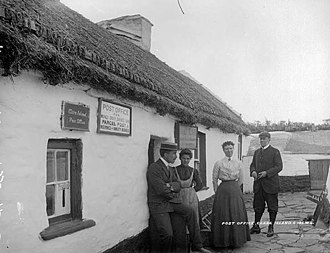 Clare Island - Image: Post Office, Clare Island c 1900