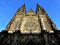 Prag - Veits-Kathedrale auf dem Hradschin - von Westen - Katedrála svatého Víta, Václava Vojtěcha - od západu - panoramio.jpg