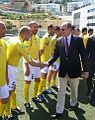 Prince Albert of Monaco with Vatican football players.jpg