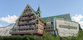 Prince of Wales Hotel - The building was designed in a Rustic architectural style, although it also adopts a number of elements from the Swiss chalet style.