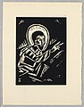 "Print, Christos Kazici, Christ, Plate IV, ""Ethiopie, cili Christos, Madonna a Svati, jak jsem ie videl v illuminacich starych ethiopskych kodexu"" Portfolio, 1920 (CH 18684915-2).jpg"