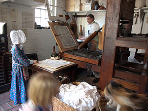 Louis Timothee - Printing colonial newspapers with assistants