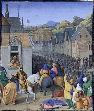 Ptolemy I Soter - The taking of Jerusalem by Ptolemy Soter ca. 320 BC, by Jean Fouquet