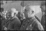 Prisoners in the concentration camp at Sachsenhausen, Germany, December 19, 1938. Heinrich Hoffman Collection. - NARA - 540178