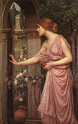 John William Waterhouse: Psyche Opening the Door into Cupid's Garden