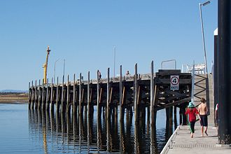 Port Broughton, South Australia - The face of the 'T'-shaped jetty at Port Broughton