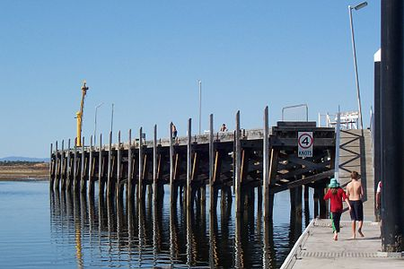 The face of the 'T'-shaped jetty at Port Broughton, South Australia