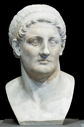 Library of Alexandria - A Hellenistic bust depicting Ptolemy I Soter, 3rd century BC, the Louvre, Paris