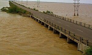 Pulicat Lake - Pulicat Lake flooded due to rains