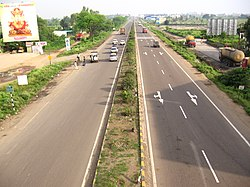 The NH 4 Pune Bypass passing through Wakad