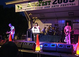 Pylon performing at AthFest 2005 in Athens, Georgia, USA, June 24, 2005.