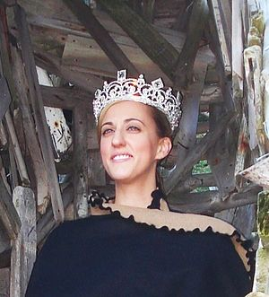 Ladonia (micronation) - Queen Carolyn of Ladonia immediately after her coronation. 19 September 2011