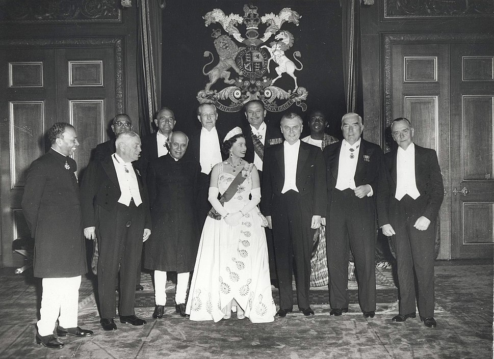 Queen Elizabeth II and the Prime Ministers of the Commonwealth Nations, at Windsor Castle (1960 Commonwealth Prime Minister%27s Conference)