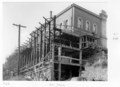 Queensland State Archives 6437 Construction of extensions to the State Library of Queensland on William St Brisbane May 1959.png