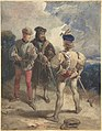 Quentin Durward and the Disguised Louis XI (recto); Study of male figure (verso) MET DP800807.jpg