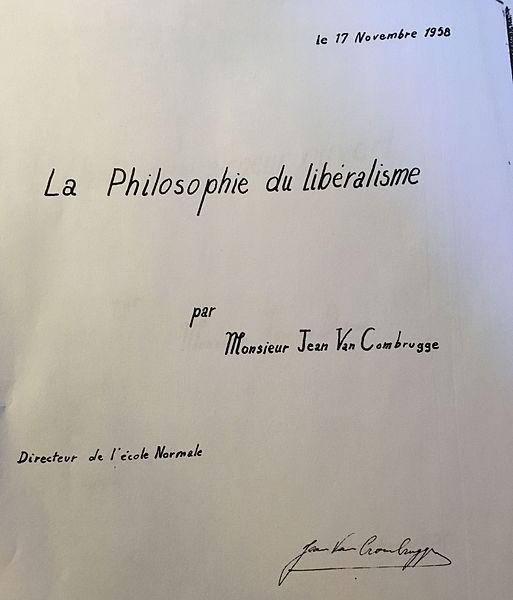 Réunion au Château Dresse (chateau bleu maintenant) 17 novembre 1958 + signature