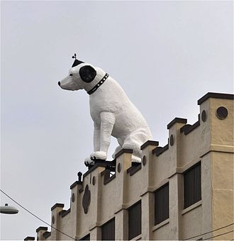 Nipper - RCA Nipper atop the old RCA building, Broadway, Albany, New York