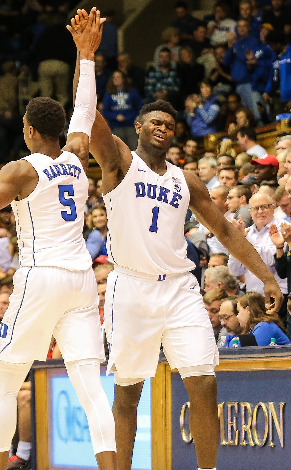 RJ Barrett & Zion Williamson - Keenan Hairston (cropped) 3