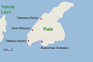 Rabi Island - Image: Rabi map